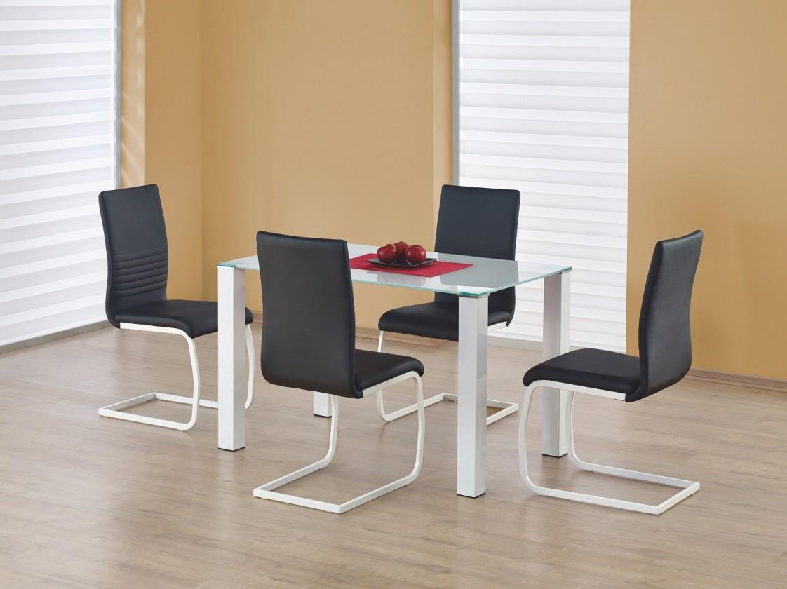 Jídelní stůl Merlot  - jídelní stůl (sklo - bílá/bílá)