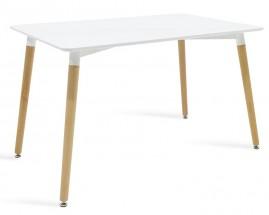 Jídelní stůl Neli (120x76x80 cm, bílá)