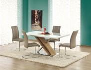 Jídelní stůl Nexus  (sklo-extra bílá/dub sonoma)
