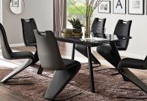 Jídelní stůl Omero rozkládací (šedá, černá)