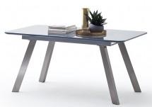 Jídelní stůl Omero rozkládací (šedá, stříbrná)