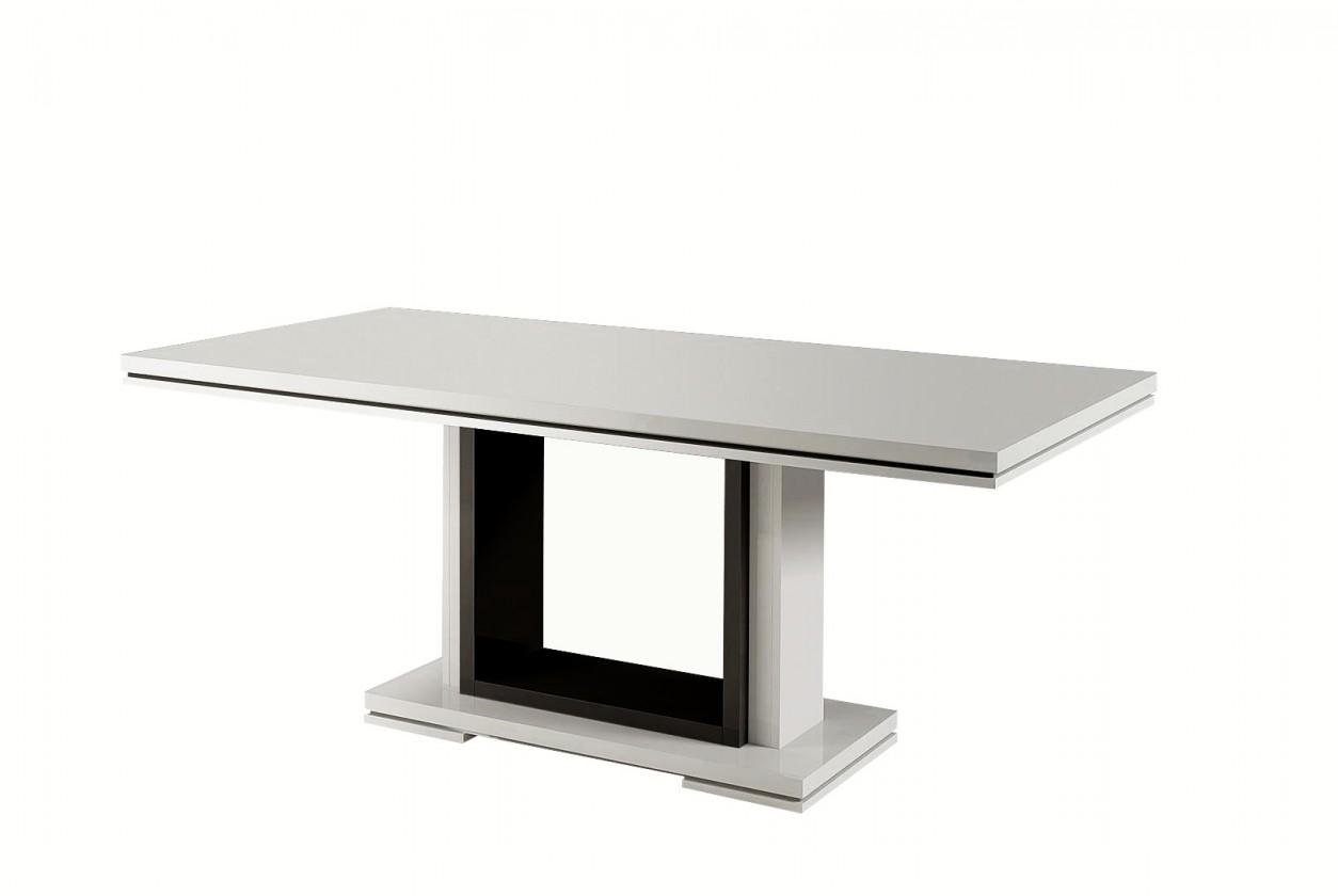 Jídelní stůl Rimini - Jídelní stůl 160 cm (černá/bílá)