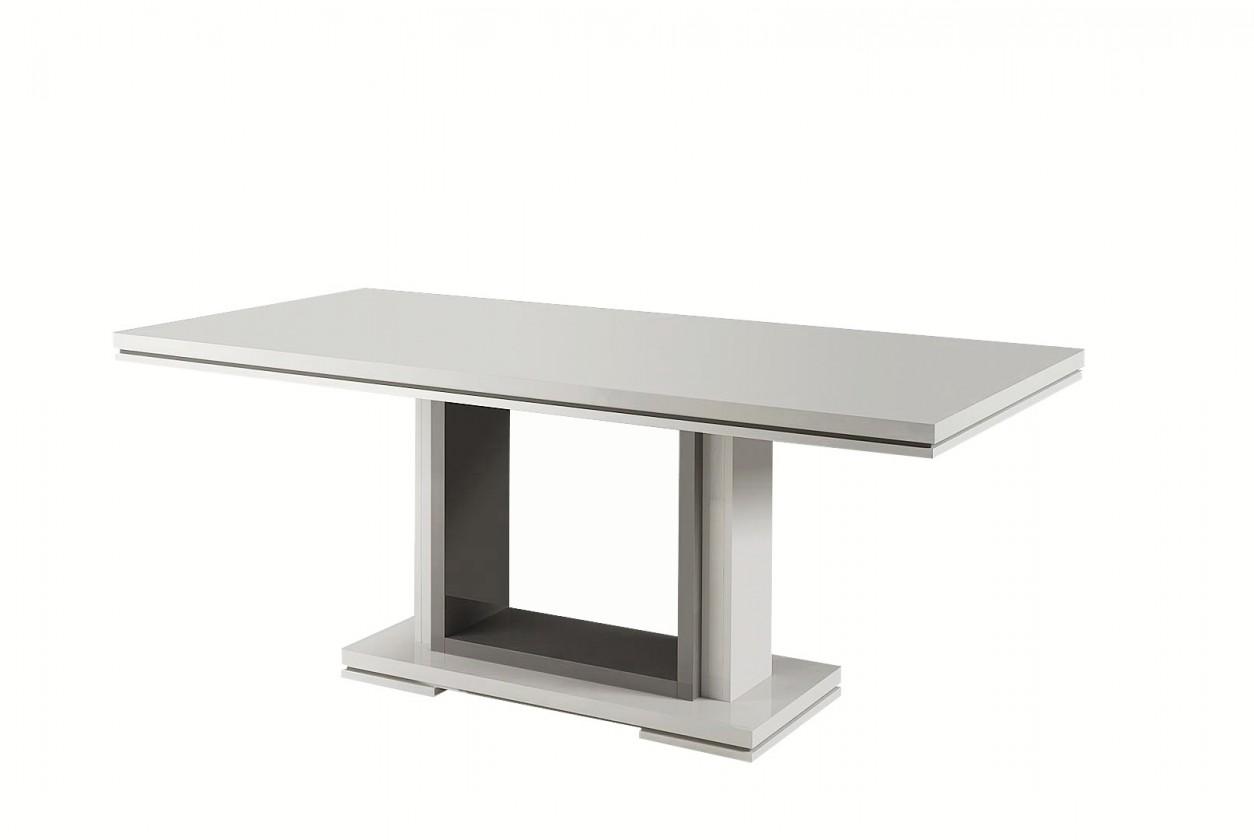 Jídelní stůl Rimini - Jídelní stůl 160 cm (tmavě šedá/bílá)