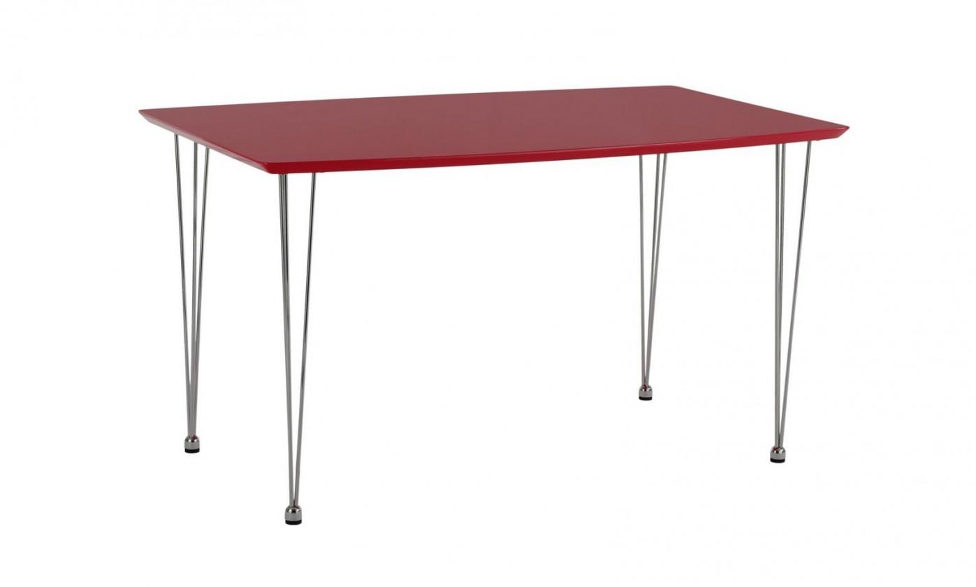 Jídelní stůl Rob(chrom/vys. lesk červený)