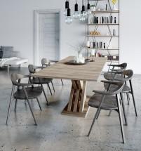 Jídelní stůl rozkládací Ettore (dub sonoma)