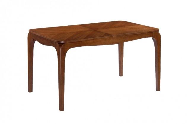 Jídelní stůl SAMBENE(kaučukovník, moření ořech)