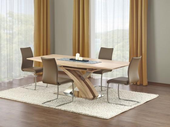 Jídelní stůl Sandor - Jídelní stůl 160-220x90 cm (dub sonoma, stříbrná)