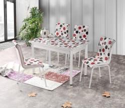 Jídelní stůl Stambul 4 - rozkládací (chrom)
