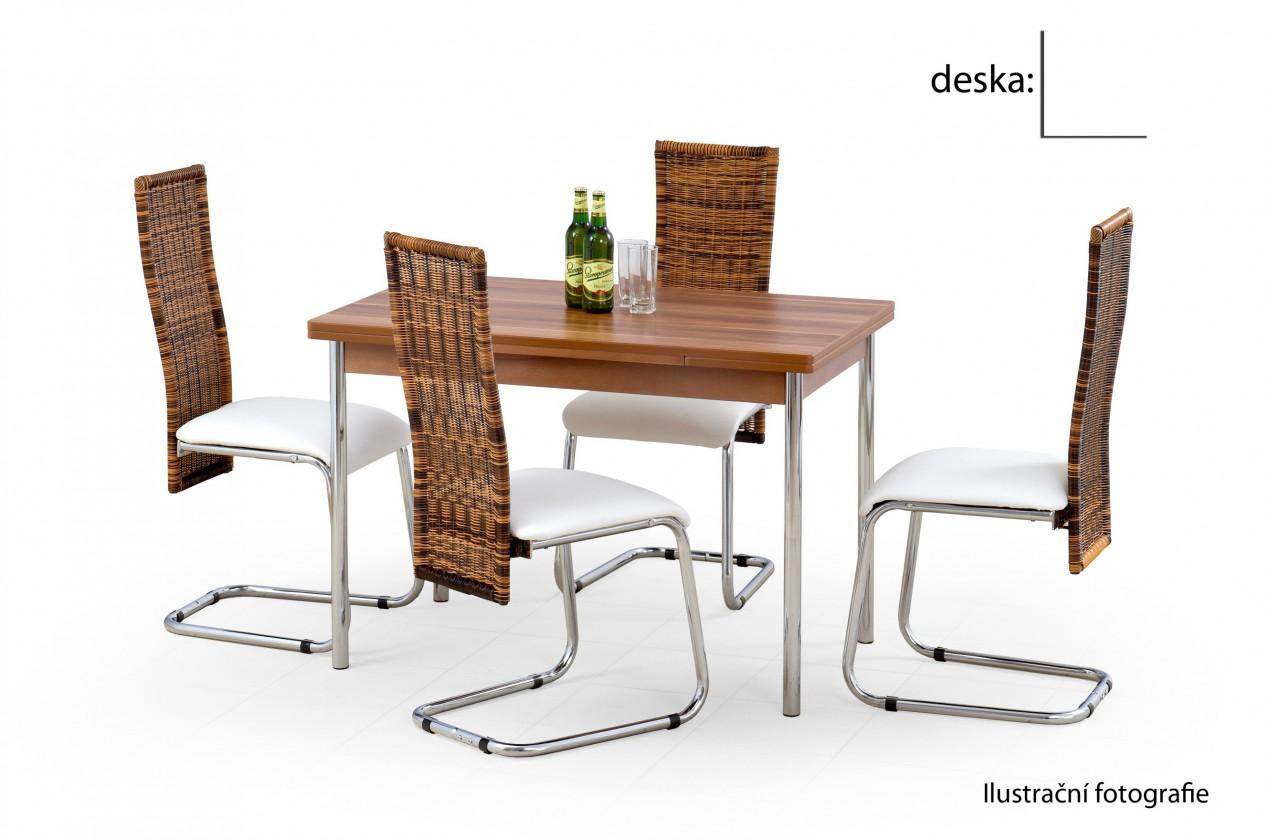 Jídelní stůl Swift (bílá / chrom)