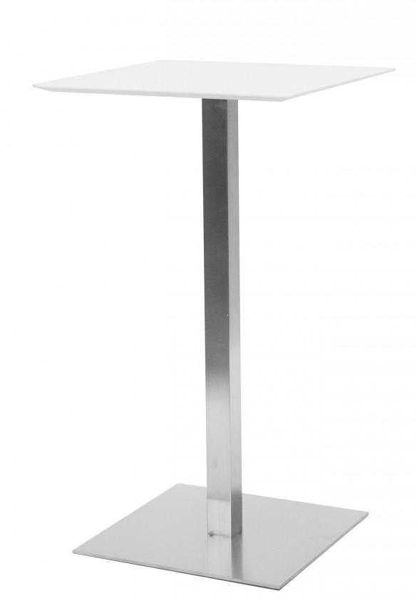 Jídelní stůl T-BAR - 60/105/60 (nerez, bílé MDF)