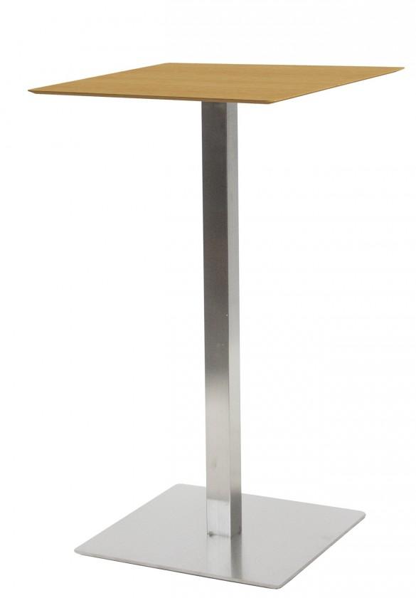Jídelní stůl T-BAR - 60/105/60 (nerez, dýhované MDF dub)