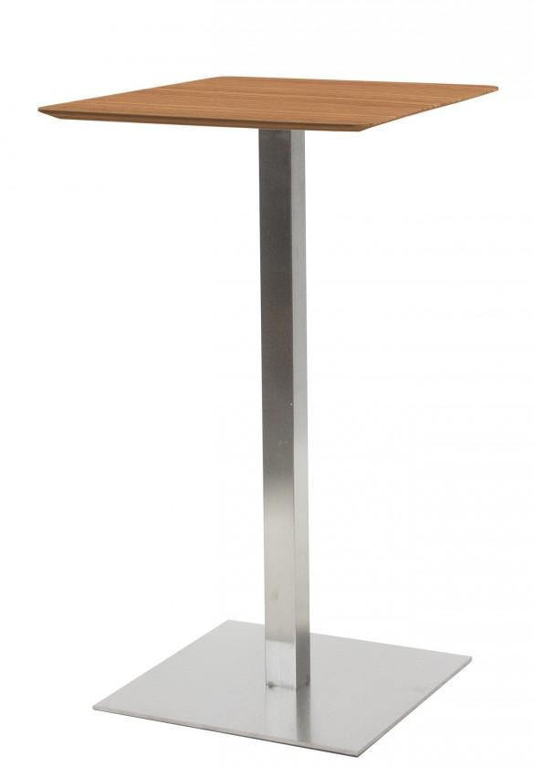 Jídelní stůl T-BAR - 60/105/60 (nerez, dýhované MDF ořech)