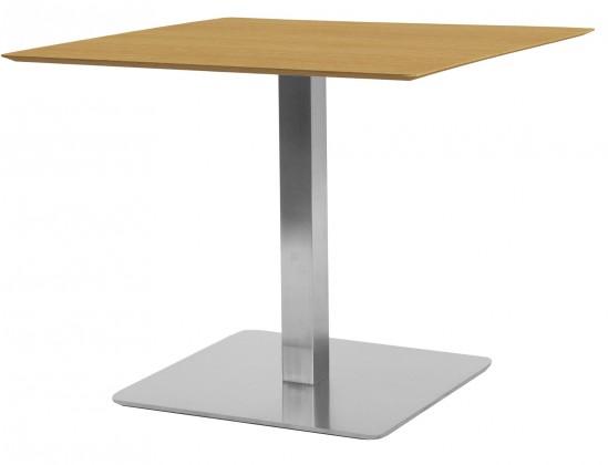 Jídelní stůl T-BAR - 75/70/70 (nerez, dýhované MDF dub)