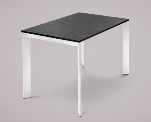 Jídelní stůl Universe-110 - Jídelní stůl (bílé, lamino břidlice)