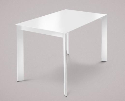 Jídelní stůl Universe-110 - Jídelní stůl (bílé, sklo extra bílé)
