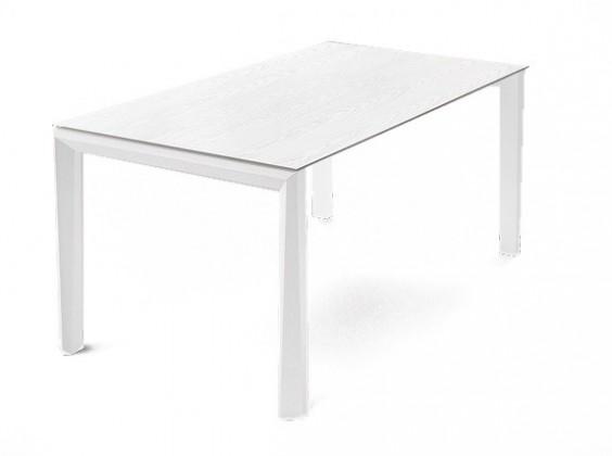 Jídelní stůl Universe-130 - Jídelní stůl (bílá mat struk., bílá mat struk.)