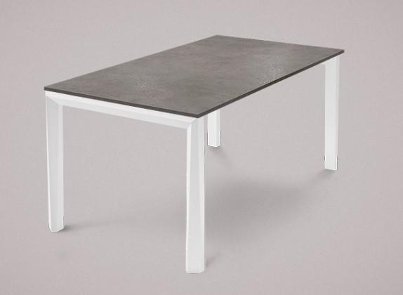 Jídelní stůl Universe-130 - Jídelní stůl (bílá mat struk., lamino šedobéžová)