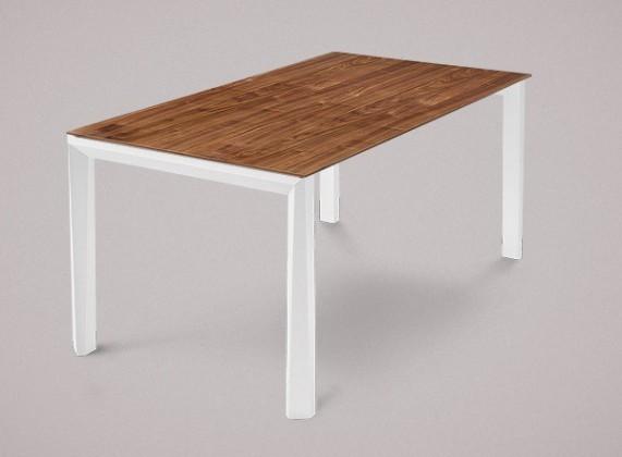 Jídelní stůl Universe-130 - Jídelní stůl (bílá mat struk., ořech)