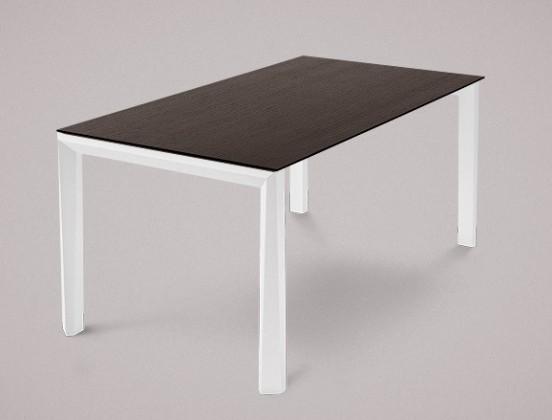 Jídelní stůl Universe-130 - Jídelní stůl (bílá mat struk., wenge)