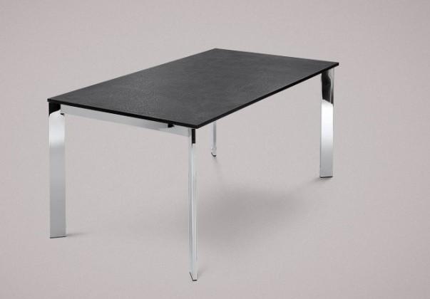 Jídelní stůl Universe-130 - Jídelní stůl (chrom, lamino břidlice)