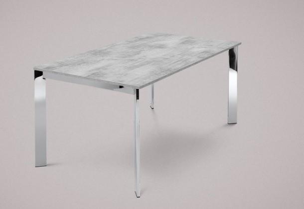 Jídelní stůl Universe-130 - Jídelní stůl (chrom, lamino cement)