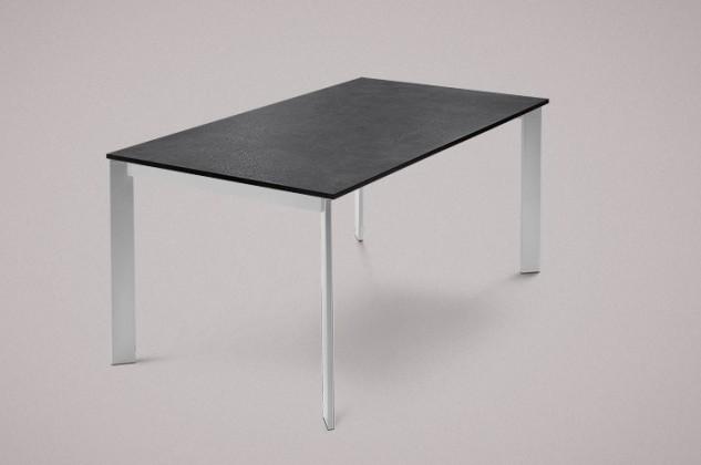 Jídelní stůl Universe-130 - Jídelní stůl (hliník, lamino břidlice)