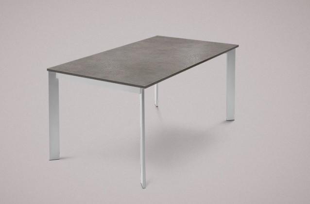 Jídelní stůl Universe-130 - Jídelní stůl (hliník, lamino kámen šedobéžový)