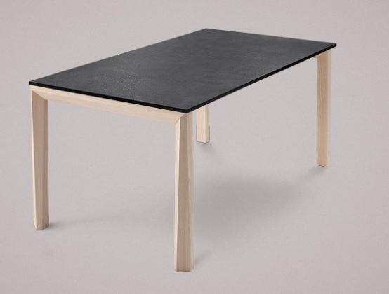 Jídelní stůl Universe-130 - Jídelní stůl (jasan, lamino břidlice)