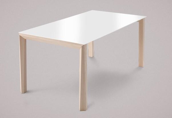 Jídelní stůl Universe-130 - Jídelní stůl (jasan, sklo extra bílé)