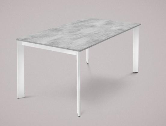 Jídelní stůl Universe-130 - Jídelní stůl (lak bílý, lamino cement)