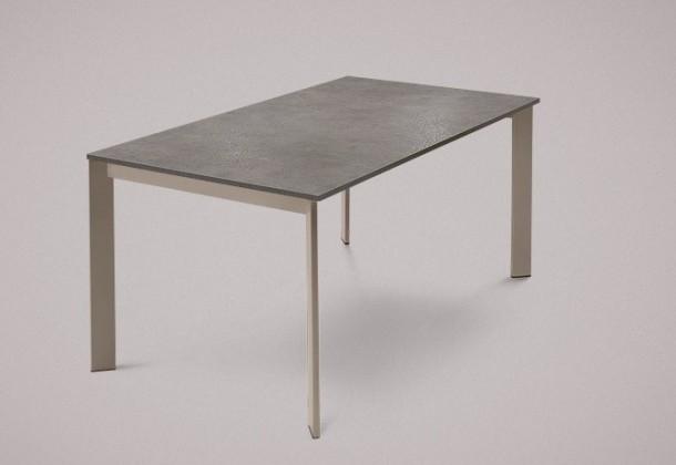 Jídelní stůl Universe-130 - Jídelní stůl (lak mat šedobéžový, lam.šedobéžová)