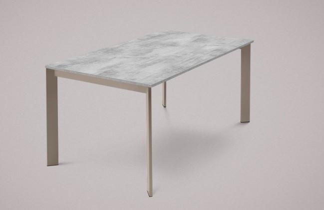 Jídelní stůl Universe-130 - Jídelní stůl (lak mat šedobéžový, lamino cement)