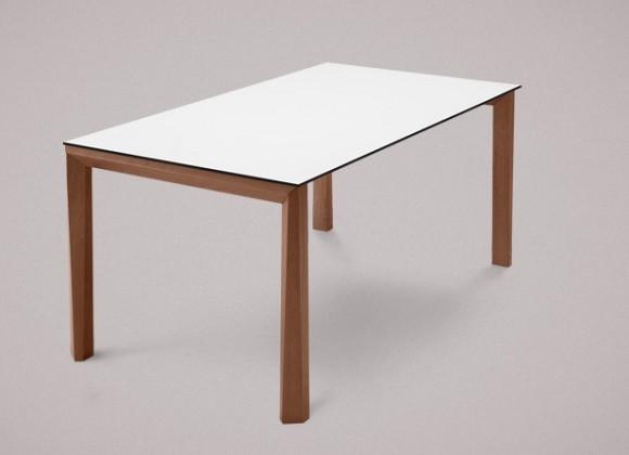 Jídelní stůl Universe-130 - Jídelní stůl (ořech, lamino bílé)