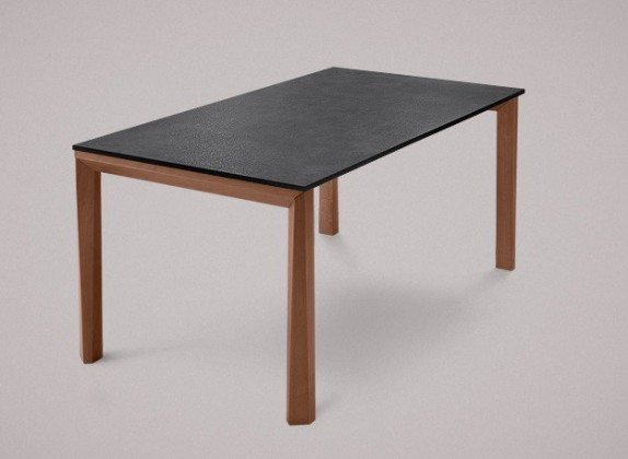 Jídelní stůl Universe-130 - Jídelní stůl (ořech, lamino břidlice)