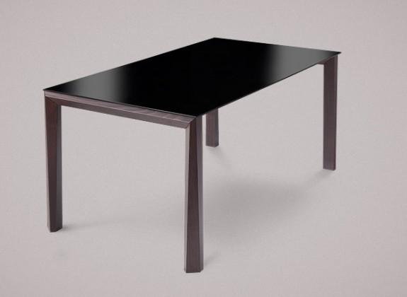 Jídelní stůl Universe-130 - Jídelní stůl (wenge, lak. sklo černé)