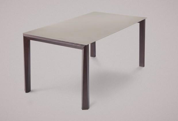 Jídelní stůl Universe-130 - Jídelní stůl (wenge, leptané sklo šedé)