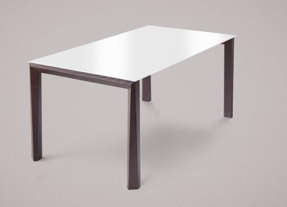 Jídelní stůl Universe-130 - Jídelní stůl (wenge, sklo extra bílé)