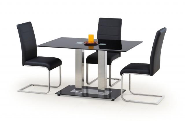 Jídelní stůl Walter 2 (sklo - černá)