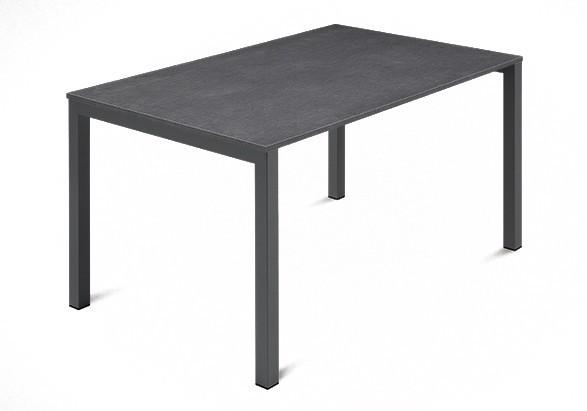 Jídelní stůl Web - 120 cm (kostra ocel antracit/deska melamin textura šedá)