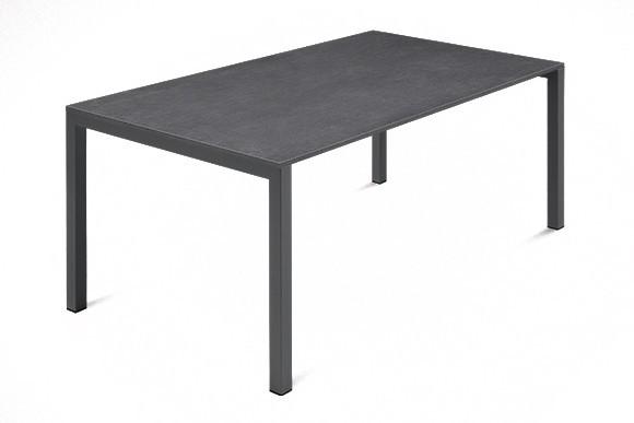 Jídelní stůl Web - 140 cm (kostra ocel antracit/deska melamin textura šedá)