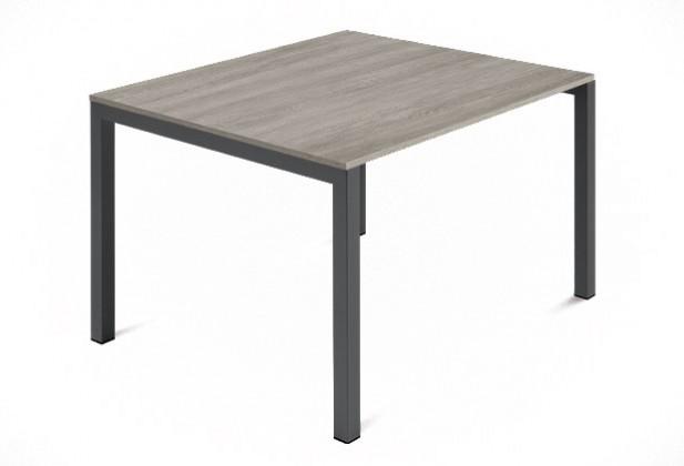 Jídelní stůl Web - 90 cm (kostra ocel antracit/deska melamin antický dub)