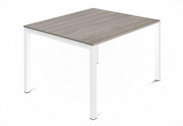 Jídelní stůl Web - 90 cm (kostra ocel bílá/deska melamin antický dub)