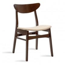Jídelní židle Abbi ořech, béžová