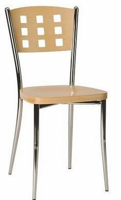 Jídelní židle Agave - Jídelní židle (bílá/chrom)