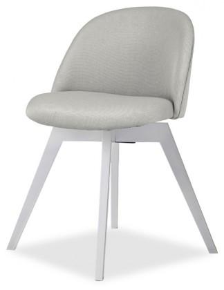 Jídelní židle ALLY 9368-207+BESS 9347-001 (sv.šedá,bílá)