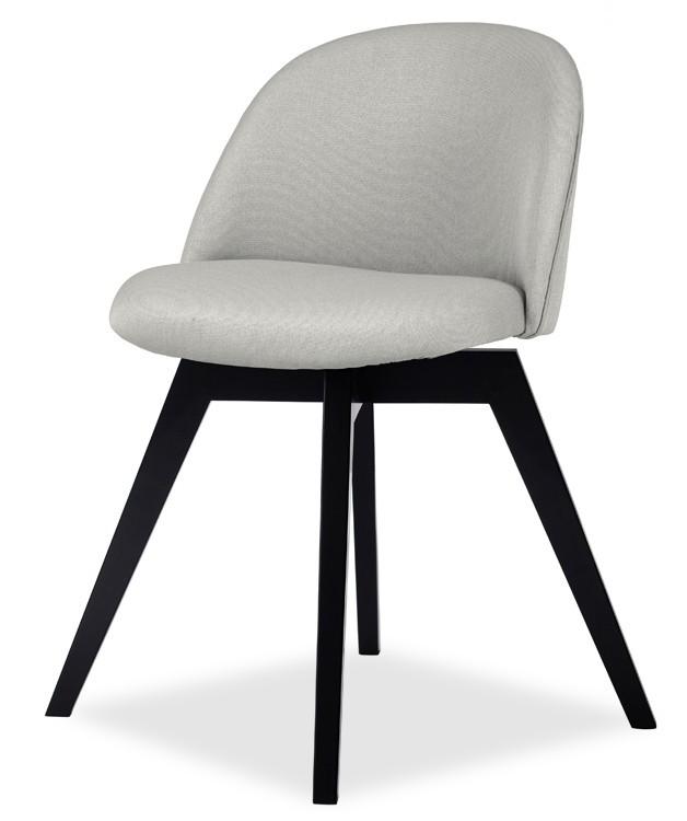 Jídelní židle ALLY 9368-207+BESS 9347-024 (sv.šedá,černá)