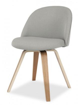 Jídelní židle ALLY 9368-207+ELLA 9348-054 (sv.šedá,dub)