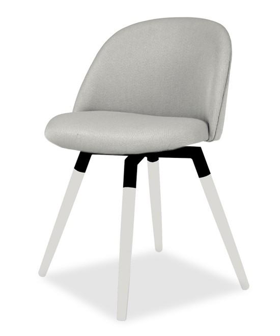 Jídelní židle ALLY 9368-207+FIDO 9315-101 (sv.šedá,bílá,černá)