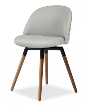 Jídelní židle ALLY 9368-207+FIDO 9315-154 (sv.šedá,černá,dub)