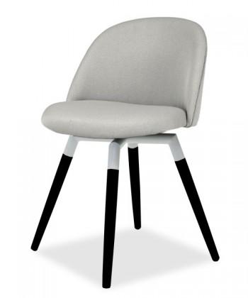 Jídelní židle ALLY 9368-207+FIDO 9315-424 (sv.šedá,bílá,černá)